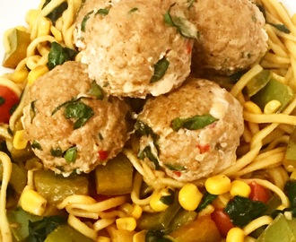 Syn Free Asian Style Pork & Spinach Meatballs | Slimming World