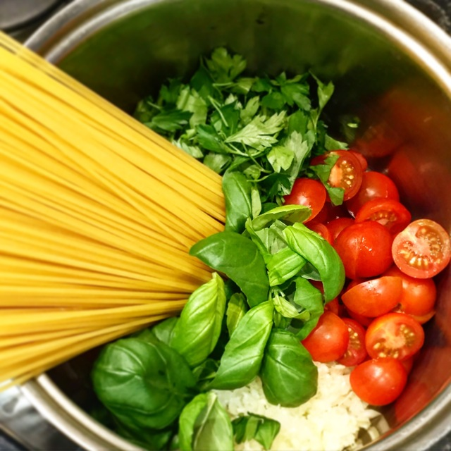 One Pot Basil Pasta