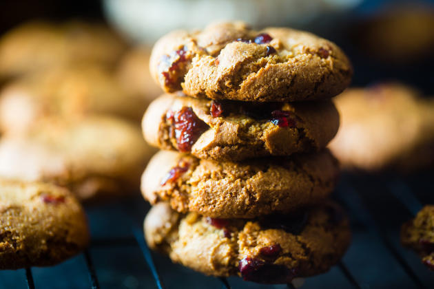 Paleo Cranberry Almond Cookies