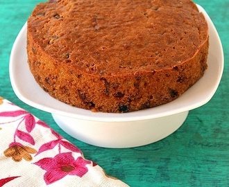 Eggless Fruit cake with buttermilk