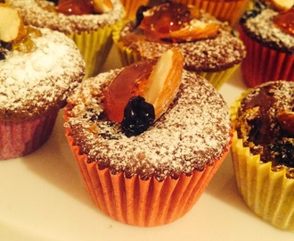 Sticky Chocolate Florentine Cup Cakes