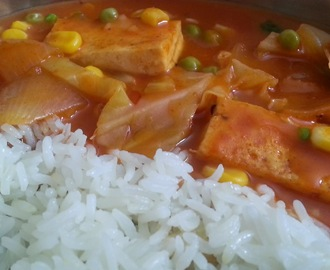 INDO-CHINESE CURRY WITH TOFU