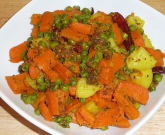 Manjula's Kitchen Gajar Matar (Carrots With Green Peas) Post navigation