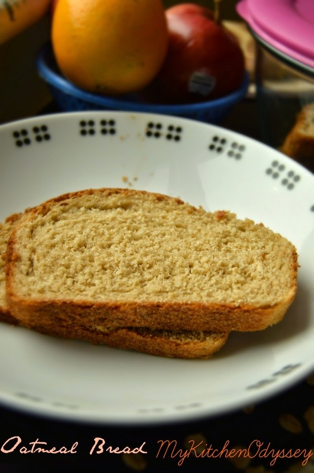 Oatmeal Bread | Wheat Oats Bread