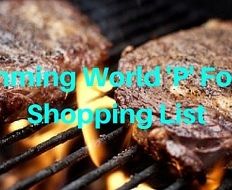 'P' Foods Shopping List | Slimming World