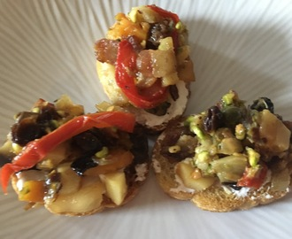 Roasted Fall Vegetable Bruschetta….A Special Thanksgiving Appetizer