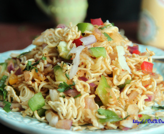Instant noodles Chaat/Chinese Bhel