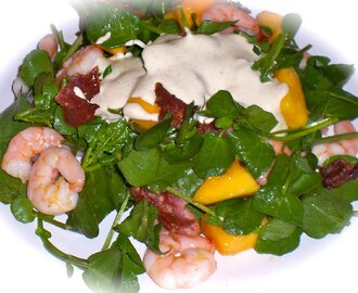 Prawn, Mango & Bacon Salad / Salada de Camarão, Manga e Bacon!