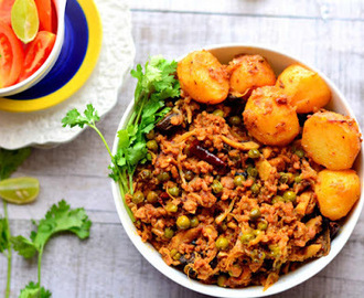 Keema Aloo Matar / Minced Mutton Curry with Potatoes and Green Peas