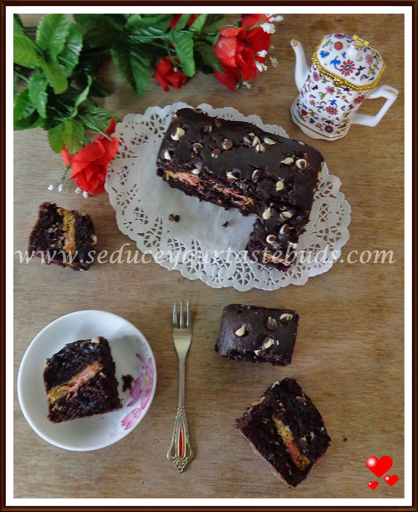 Eggless Cream Biscuit Brownies | Surprise Inside Cake