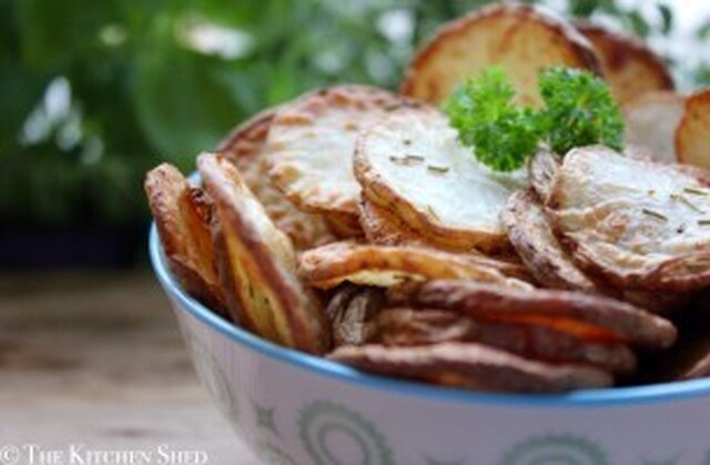 Clean Eating Rosemary Potato Chips