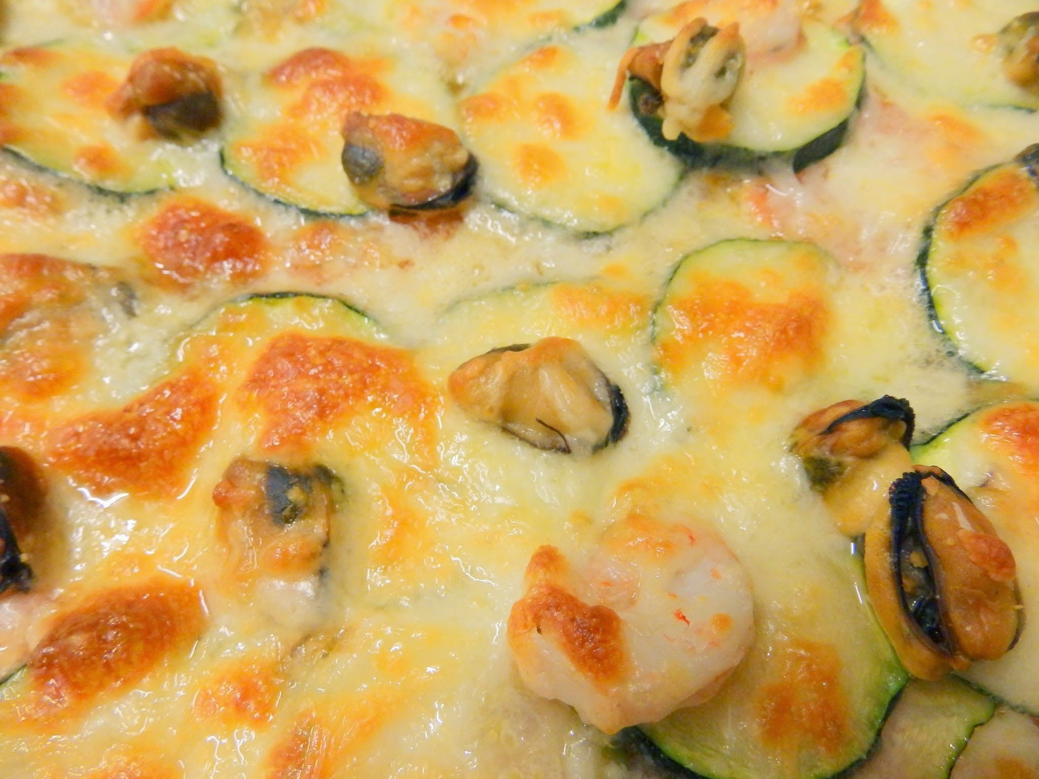 Pizza vegetal amb sabor a mar