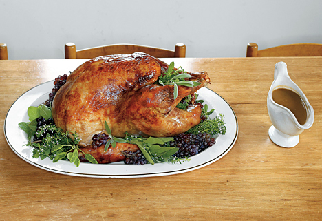 Roast Heritage Turkey with Bacon-Herb and Cider Gravy