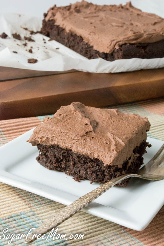 Sugar Free Low Carb Chocolate Crazy Cake { Egg Free, Dairy Free, Nut Free, Gluten Free}