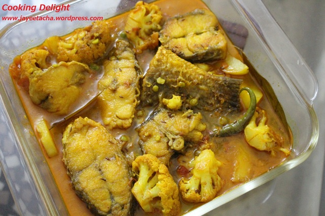 Bhetki Macher Jhol / Bhetki Fish Curry