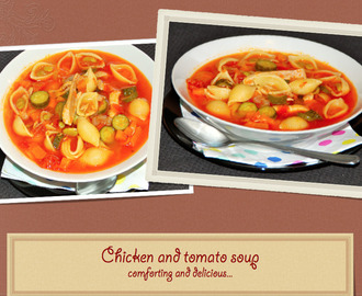 Chicken and tomato soup / Sopa de galinha e tomate!