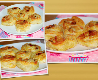 Bacon and mozzarella bites / Folhados de bacon e mozzarella!