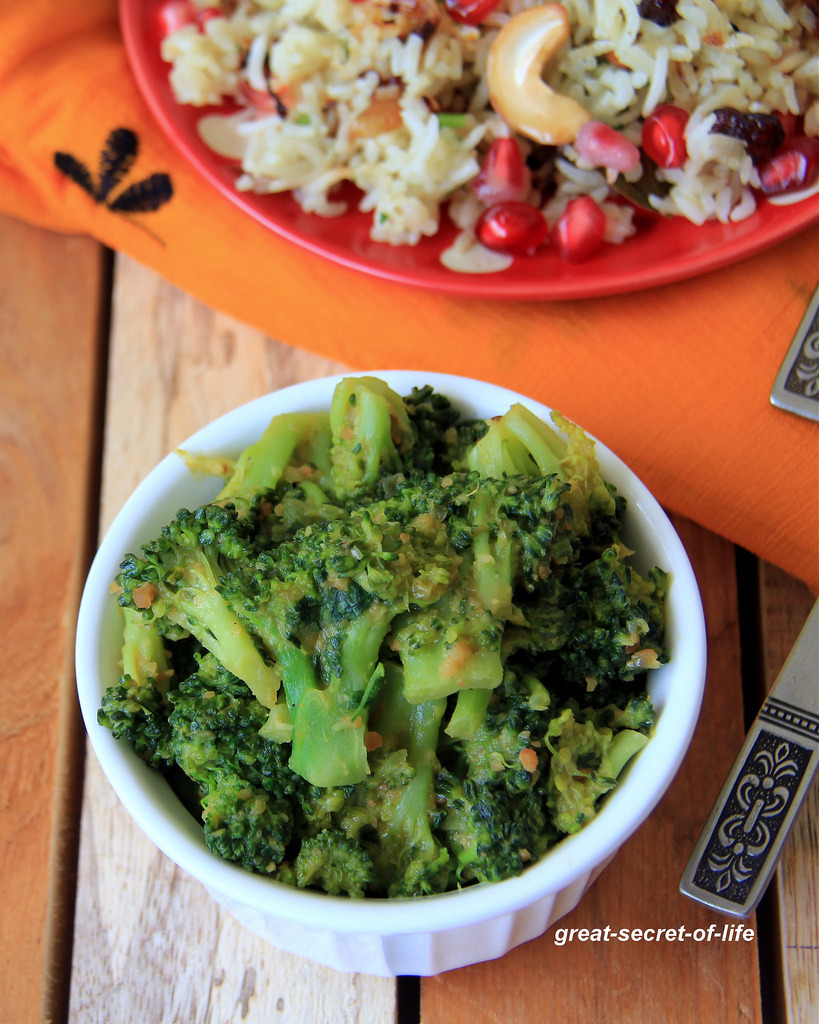 Broccoli stir fry - Broccoli Spicy stir fry - Vegetable side recipe