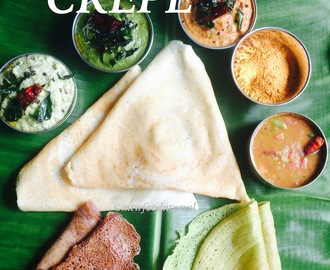 DOSA - THE INDIAN CRÊPE WHICH IS PAINTING THE WORLD PLATTER IN IT'S COLOUR
