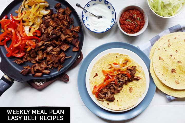 Weekly meal plan: easy beef recipes