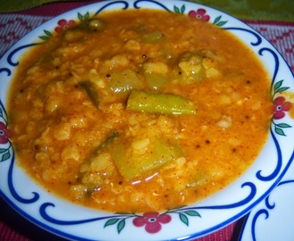 Dal with Raw Mango -- Mamidikaya Pappu -- How to make Mamidikaya Pappu