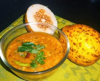 Dosakaya Pappu -- Dal with Yellow Cucumber -- Yellow Cucumber Dal Recipe