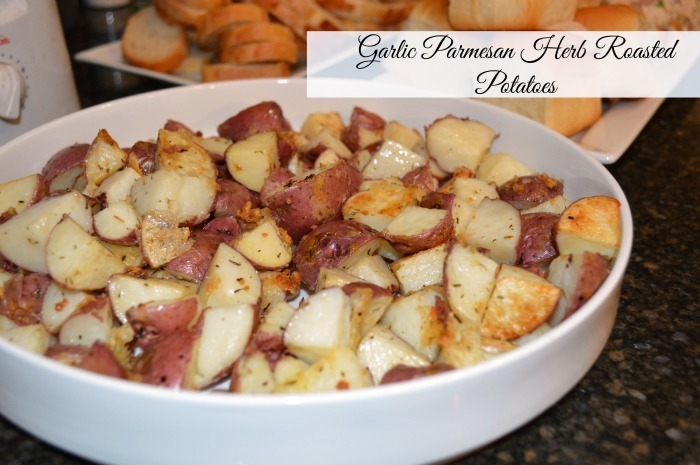 Garlic Parmesan Herb Roasted Potatoes Recipe with #SharpenYourKitchenIQ
