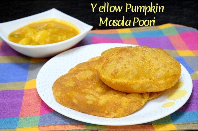 Yellow Pumpkin Masala Poori