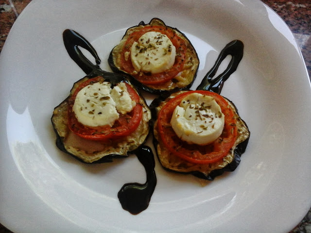 Mini pizzes d'albergínies