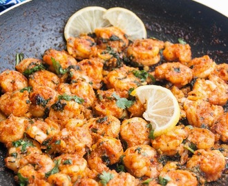 Chilli Garlic Lemon butter prawns