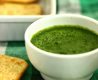 Hari Chutney: Green Chutney: Coriander Chutney: Indian Chuteny For Chaats