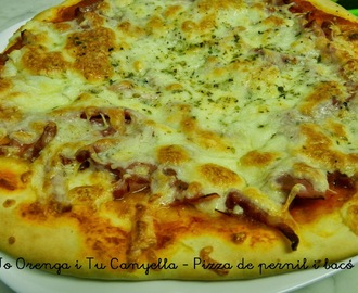 Pizza de pernil i bacó  / Pizza de jamón york y beicon