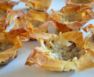 Tartellette Oignons rouges&parmesan  - Parmesan&caramelized red onion tarts