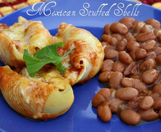 Mexican Stuffed Shells W/Bush's Cocina Latina Beans