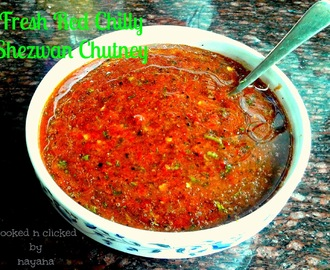 Fresh Red Chilly Shezwan Chutney