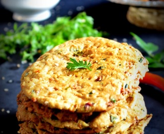 BAKERY STYLE BAKED NIPPATTU RECIPE / SAVORY ONION CRACKERS
