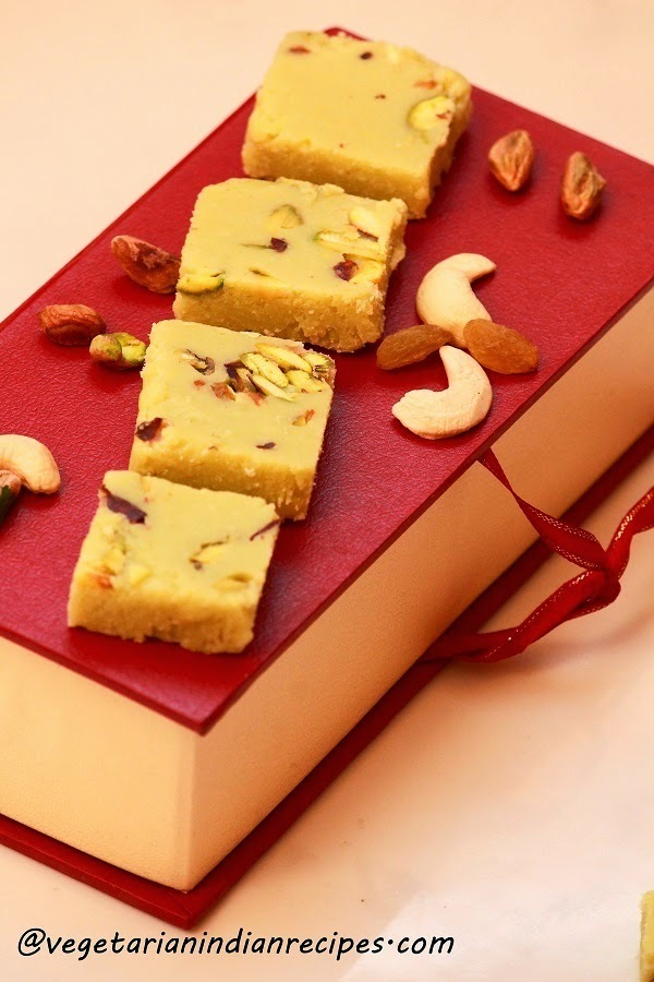 Barfi Recipe / How To Make Burfi With Milk Powder / Indian Burfi Recipe / Milk Powder Burfi Recipe