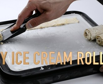 How To Make DIY Cinnamon Roll Ice Cream Rolls At Home - The Ice Plate