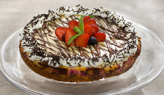 Cheesecake de Frambuesas y Chocolate