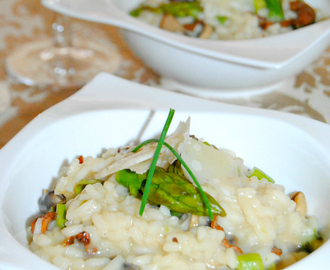 Go Cooking: Mushroom Risotto with Asparagus