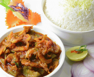 DRY PRAWNS WITH TOMATO MASALA