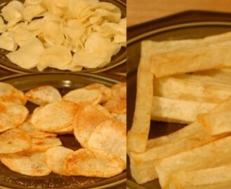 French fries and chips