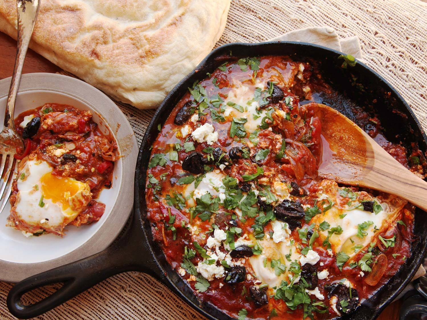 Shakshuka (North African-Style Poached Eggs in Spicy Tomato Sauce) Recipe