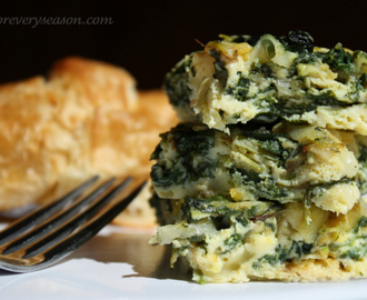 Baked Spinach and Leek Frittata