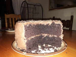 BEST BUTTERMILK CHOCOLATE CAKE EVER