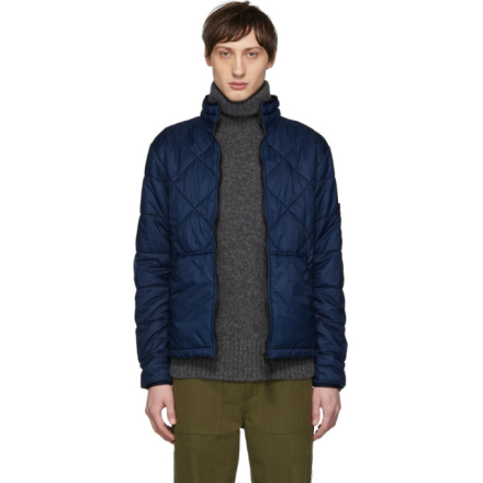 Stone Island Blue Quilted Jacket
