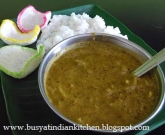 Karuveppilai kulambu (Curry Leaves Gravy)