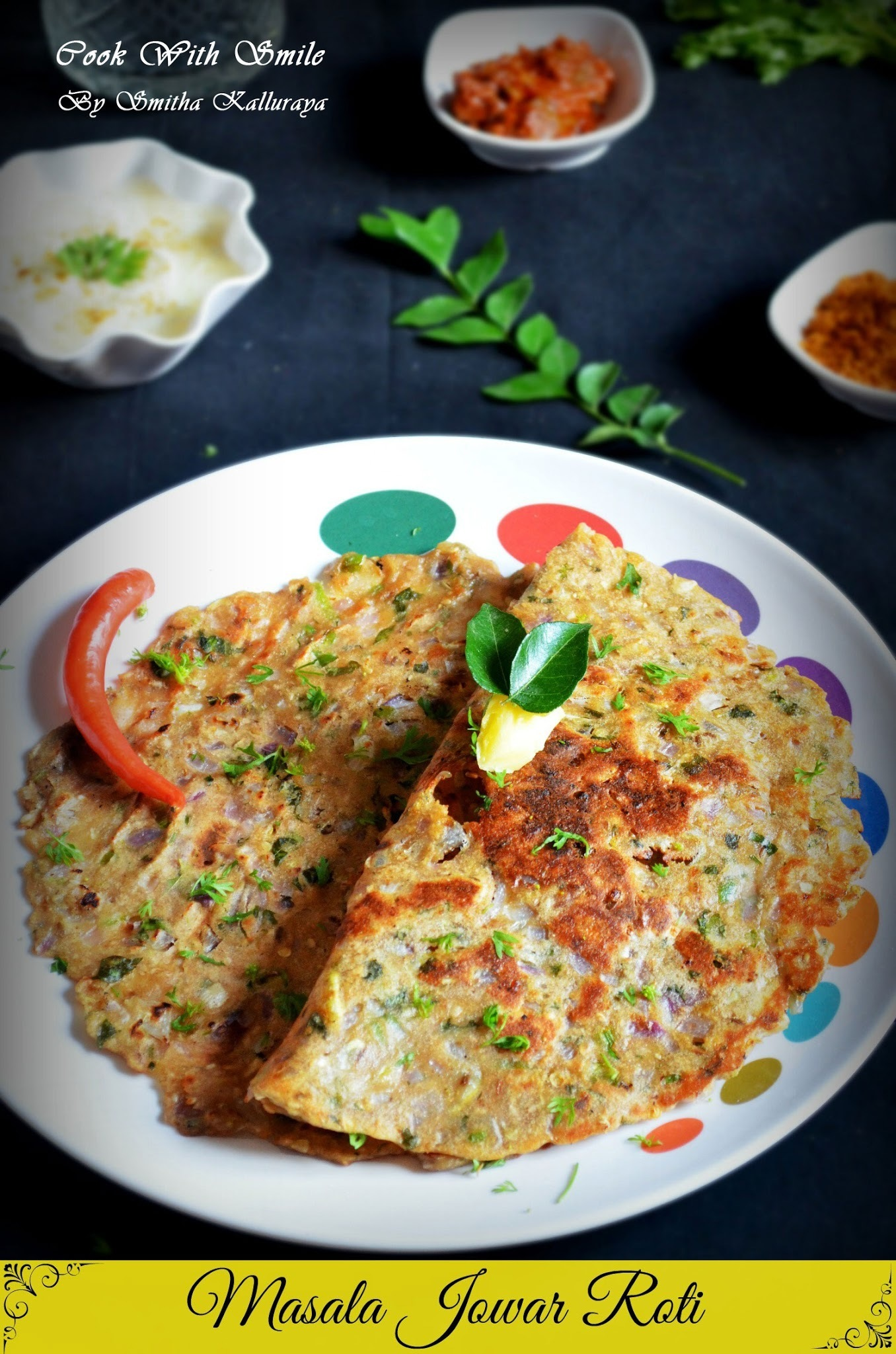 MASALA JOWAR ROTI / MASALA JOLADA ROTTI - INDIAN GLUTEN FREE RECIPES