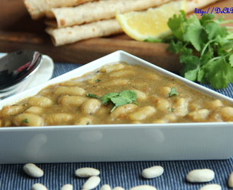 White bean mint flavoured curry