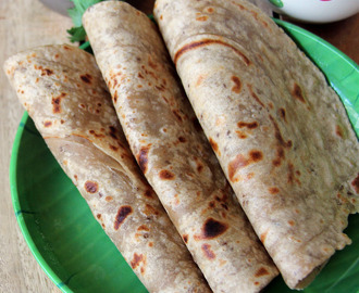 Ajwain Paratha - Indian flat bread with Ajwain seeds - Healthy Roti, Paratha recipe